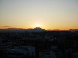 ダイヤモンド富士(2017年11月21日撮影)